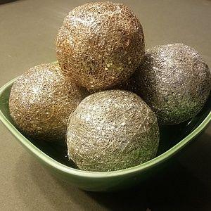 Set of 5 glitters balls